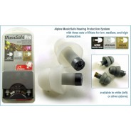Ωτοασπίδες Alpine Earplugs Music Safe Pro White